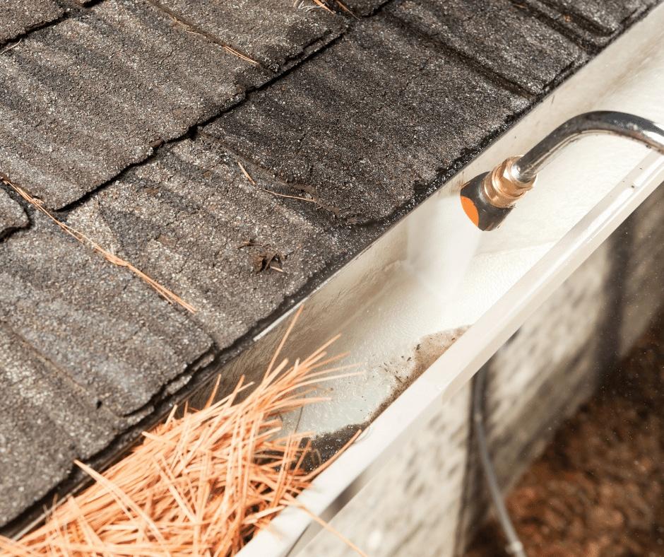 Rain Gutters Pressure Cleaning